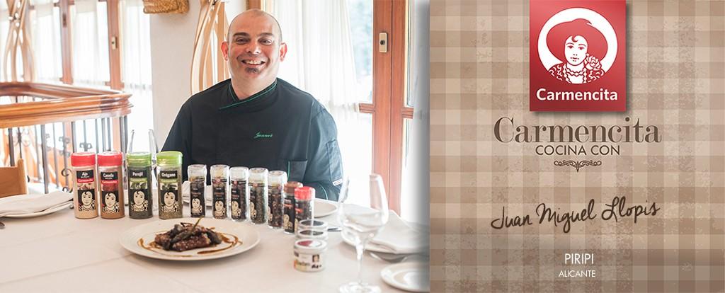 Carmencita cocina con Juan Miguel Llopis del Restaurante Piripi