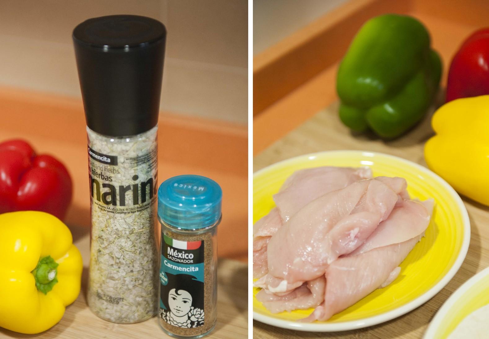 Receta Express: Fajitas de pollo con sazonador México de Carmencita