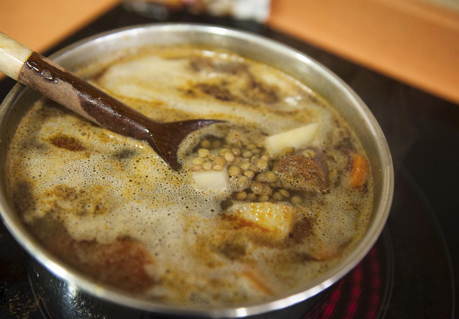 Receta Express:Guiso de lentejas con Sazonador Cocina Fácil Carmencita