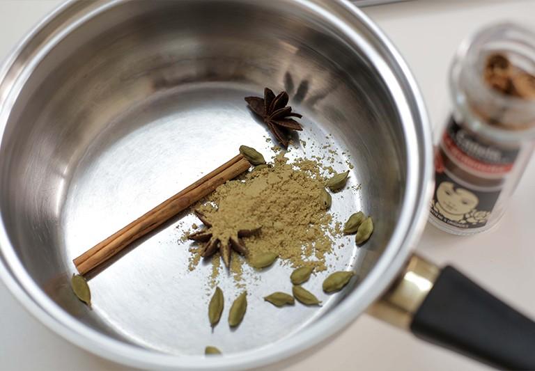 Tabulé al té rojo y especias Carmencita en la cocina de Ana.