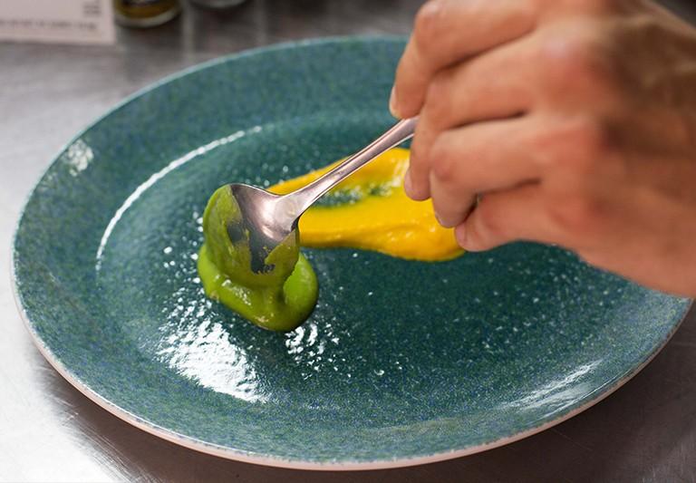 Carmencita cocina con Alberto Rubio de Petímetre, Alicante.