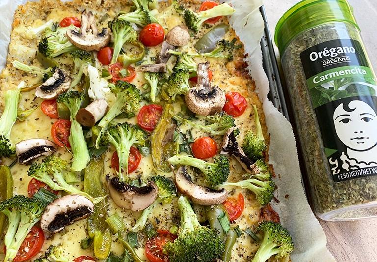Pizza casera elaborada con ingredientes ecológicos y sabor Carmencita